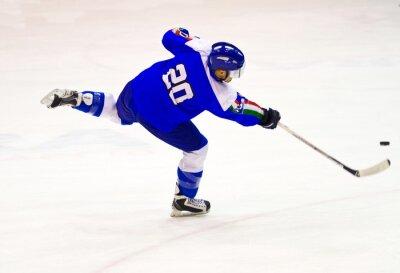 Carta da parati giocatore di hockey su ghiaccio