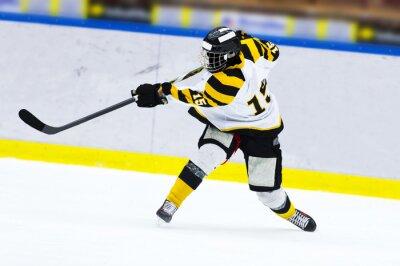 Carta da parati giocatore di hockey su ghiaccio - colpo Slap
