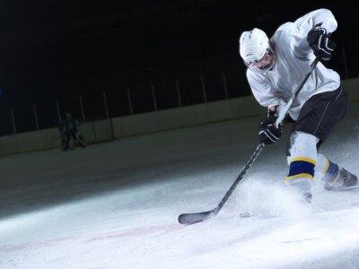 Carta da parati giocatore di hockey su ghiaccio in azione