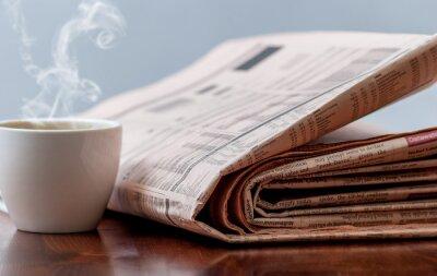 Carta da parati Giornali e caffè