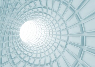 Carta da parati Girando interno del tunnel blu con piastrelle estruse