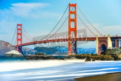 Carta da parati Golden Gate Bridge a San Francisco, California, USA.