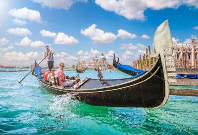 Carta da parati Gondola sul Canal Grande a Venezia, Italia