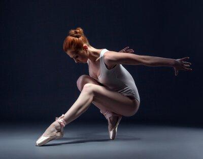 Carta da parati Graceful ballerina snello in studio