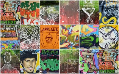 Carta da parati graffiti