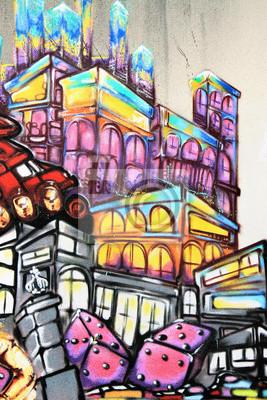 Carta da parati Graffiti - Arte di strada