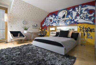 Carta Da Parati Per Camera Ragazzi : Graffiti in camera dei ragazzi carta da parati u carte da parati