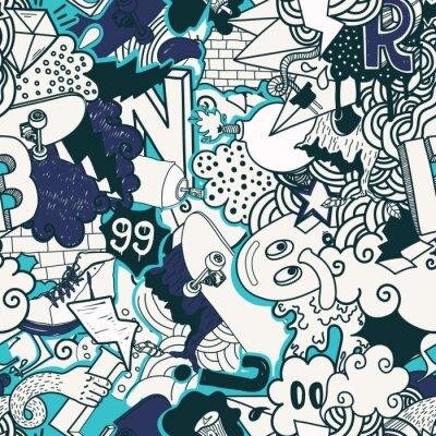 Carta da parati Graffiti seamless colorato