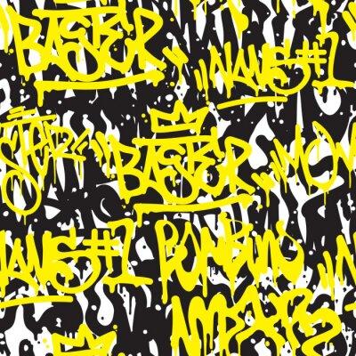 Carta da parati Graffiti senza soluzione di continuità