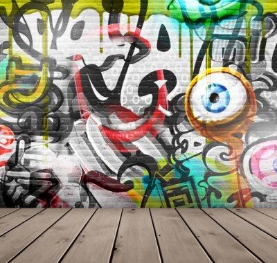 Carta da parati Graffiti sul muro