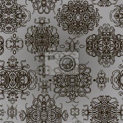 375e39cdb5 Grafica di sfondo vintage. seamless pattern. carta da parati • carte ...