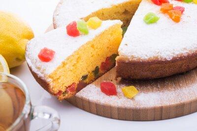 Carta da parati Grafico a torta saporito con giuggiola