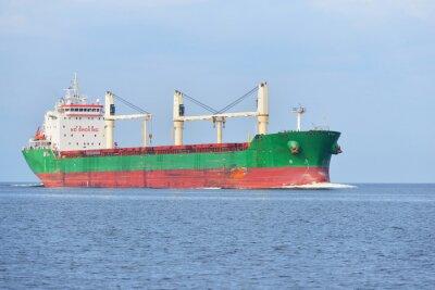 Carta da parati Grande nave da carico (Bulk carrier) a vela in una giornata di sole luminoso. R