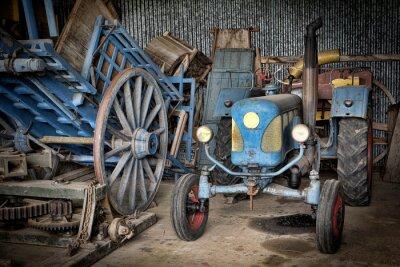 Carta da parati Grange et tracteur
