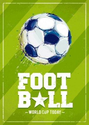 Carta da parati Grunge Football Poster