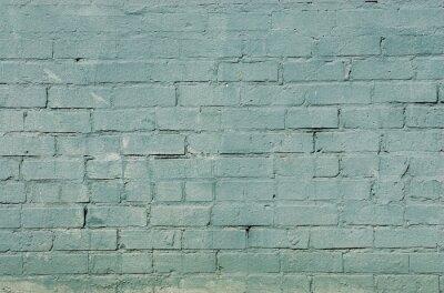 Carta da parati grunge muro di mattoni con colore blu