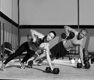 Carta da parati Gym uomo e la donna la forza push-up pushup