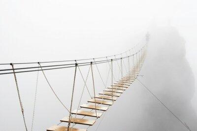 Carta da parati Hanging bridge in fog