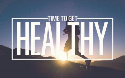 Carta da parati Healthy Fit Diet Activity Sport Lifestyle Purpose Concept