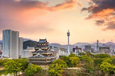 Carta da parati Hiroshima in Giappone Paesaggio urbano