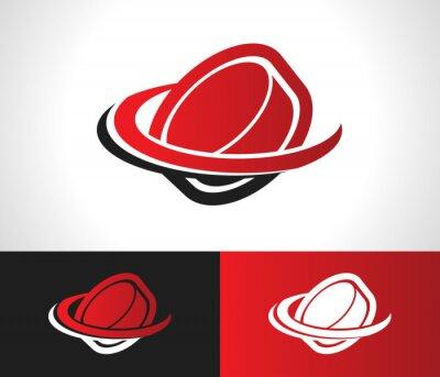 Carta da parati Hockey Puck Logo Icona