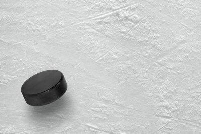 Carta da parati Hockey puck sul ghiaccio