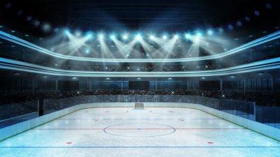 Carta da parati hockey stadium with spectators and an empty ice rink