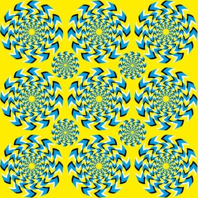 Carta da parati Hypnotic di rotazione