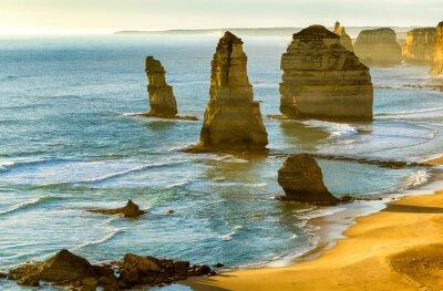 Carta da parati I Dodici Apostoli al tramonto lungo la Great Ocean Road, Victoria -