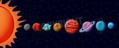 Carta da parati I pianeti in solare illustrazione del sistema