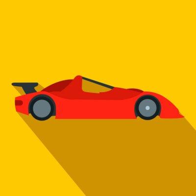 Carta da parati icona piatto macchina da corsa d'accelerazione
