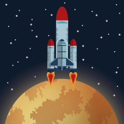 Carta da parati icona Space Design