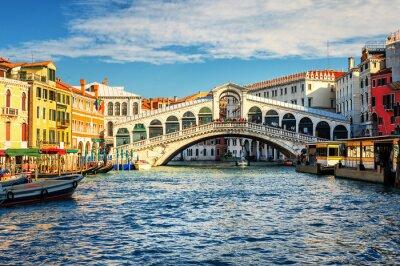 Carta da parati Il Canal Grande e il Ponte di Rialto, Venezia, Italia