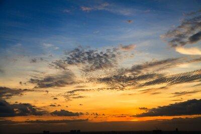 Carta da parati Il colore del cielo al crepuscolo