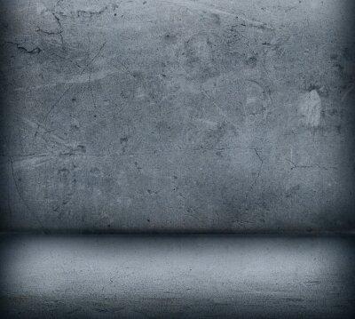 Carta da parati Il muro di cemento grigio e pavimento vicino fino