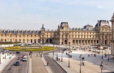 Carta da parati Il Museo del Louvre di Parigi