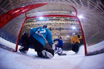 Carta da parati il portiere di hockey su ghiaccio