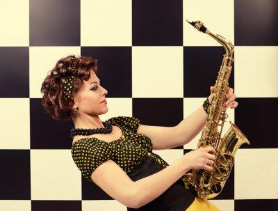 Carta da parati il sassofonista espressiva