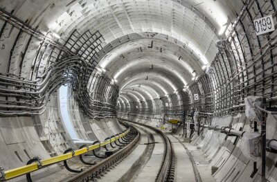 Carta da parati Il tunnel della metropolitana