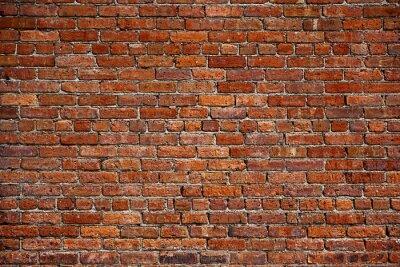 Carta da parati il vecchio muro di mattoni rossi