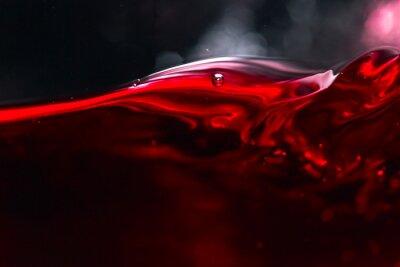 Carta da parati Il vino rosso su sfondo nero
