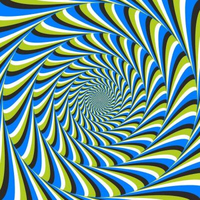Carta da parati illusione ottica turbinio senso antiorario