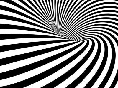 Carta da parati Illusione Ottica Wormhole