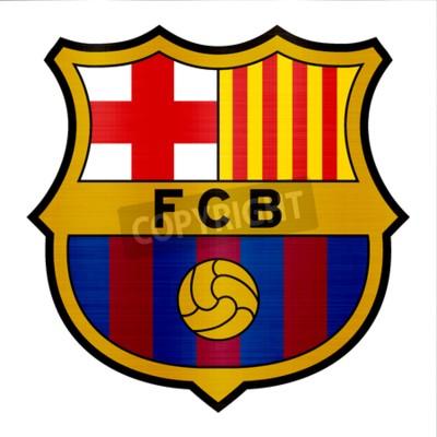 Carta da parati illustrazione di logo metallico di Barcellona
