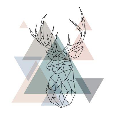 Carta da parati Illustrazione di renne geometriche