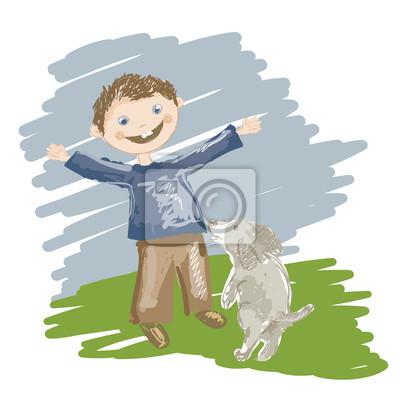 Ritratto di dobermann razza di media grandezza del cane con il