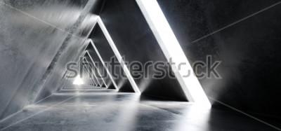 Carta da parati Illustrazione futuristica della rappresentazione del corridoio 3D del tunnel della costruzione a forma di triangolo futuristico moderno sciolto flessibile di fantascienza vuota