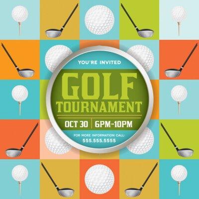 Carta da parati Illustrazione Golf Tournament