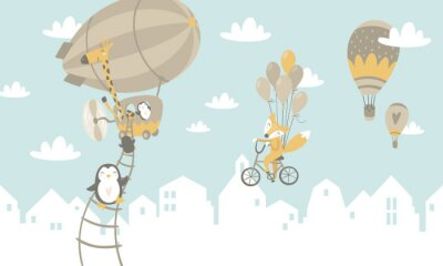 Carta da parati Illustrazione grafica per bambini Utilizzando per la stampa sul muro, cuscino, decorazione per bambini interni, baby wear e camicie, biglietto di auguri, vettoriale e altro