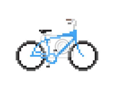 Carta da parati Illustrazione isolato Vettore - Pixeled blu bicicletta